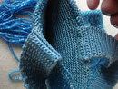 Antique Beaded Bag Shimmering Blue