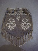 Beaded Evening Bag Silver and Black