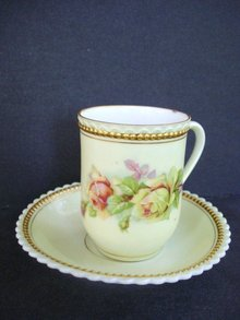 Beautiful Demitasse Set Roses