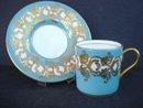 Aynsley Demitasse Set Jewel Turquoise