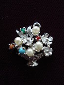 Sterling Jewelled Charm