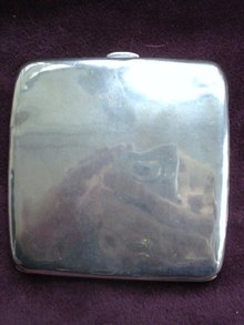 Sterling Cigarette Case Curved