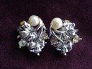 Rhinestone Pearl Earrings
