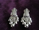 Antique Earrings Clear/Black Rhinestones