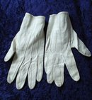 Leather Kid Gloves  Antique White