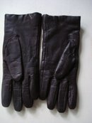 Leather  Gloves  7 1/2 dark Brown