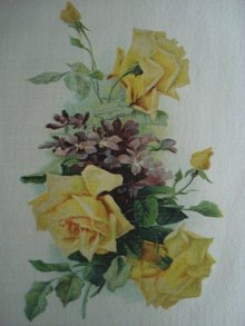 Cigarette Tobacco Silk Yellow Roses
