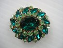 Pretty Rhinestone Brooch Oval Shape
