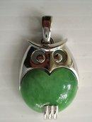 Owl Pendant Silvertone/Bakelite Trifari
