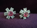 Precious Rhinestone Earrings Austrian Crystal Floral