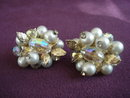 Beautiful Vendome Earrings Pearls Crystal