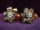 Impressive Vendome Earrings Crystal Rhinestones