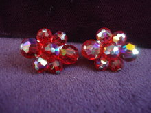 Superb Quality Sherman Earrings Ruby Red Color