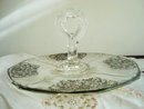 Silver Overlay Platter with Post