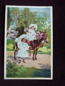 Antique Postcard Children