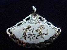 Siam Silver Pendant Enamel Fan