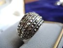Marcasite Sterling Ring Band