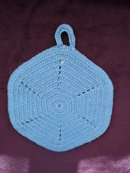 Pretty Vintage Potholder Blue / White