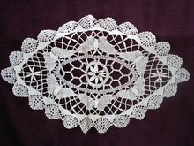 Exquisite Vintage Oval Shape Lace Doily