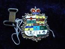 Sterling Belt Buckle Enamel Canadian Province