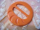 Fantastic Vintage Belt Buckle Pastel Orange Color
