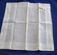 Hanky - Lily of the Valley Embroidery