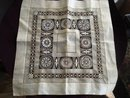 Drawn Thread Work Square Linen Cloth