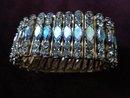 1930-50's Rhinestone Bracelet Iridescent Blue