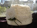 Cloche Hat Large Organdy Rose