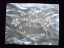 Cigarette Case Carved Flowers Rhinestones
