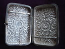Silver Cigarette Case Heavy Embossing