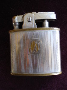 Ronson Cigarette Lighter Monograms M and D