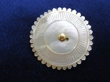 Handcrafted Pearl Brooch Mother of Pearl