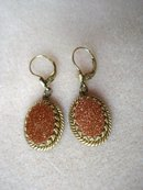 Beautiful Earrings Large Gold Stones