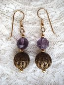 Antique Earrings Filigree and Crystal