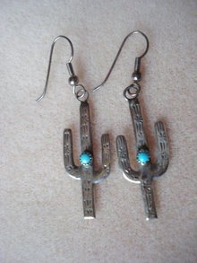 Mexican Silver Earrings Turquoise