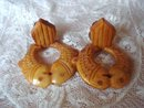 Bakelite Clip Earrings