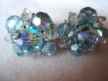 Crystal Earrings Sky Blue