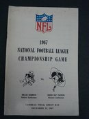 1967 Football Guide NFL Championship Game