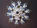 Rhinestone Brooch Large Snowflake