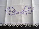 Embroidered Antique Towel Hand Embroidery