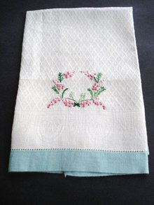 Wonderful Vintage Hand Embroidered Towel