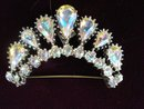 Rhinestone Brooch Diamond Look Crown Tiara