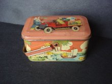 Antique Tin Box Easter Basket