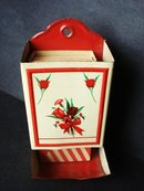 Wall Match Box Vintage Floral
