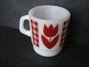 Vintage Mug Red Tulip