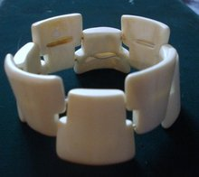 Vintage One of the Kind Bracelet by Inuit Eskimo Whale Bone Ivory