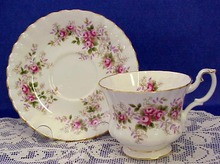 Beautiful English China Cup & Saucer LAVENDER