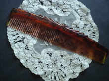 Rexall Hair Comb Fancy Early Plastic Celluloid