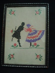 Sampler Style Silhouette Picture Circa 1920